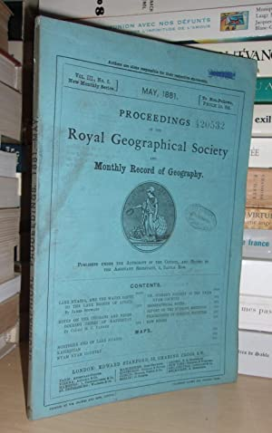 GEOGRAPHICAL SOCIETY & MONTHLY RECORD OF GEOGRAPHY : Vol. III, no. 5 - May 1881 : Edited By the A...