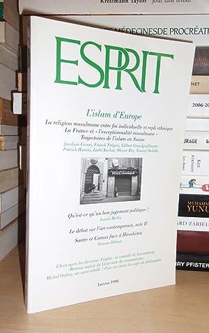 Esprit N°1 - Janvier 1998 : L'Islam: Collectif