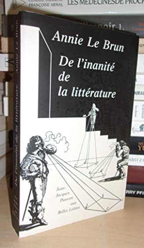 DE L'INANITE DE LA LITTERATURE