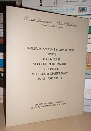Catalogue Drouot - Jeudi 22 Novembre 1990: Dumousset Patrick -