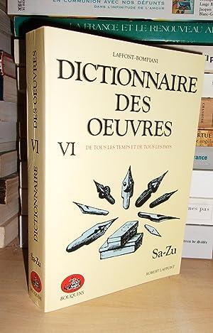 Dictionnaire Des Oeuvres De Tous Les Temps: Robert Laffont -