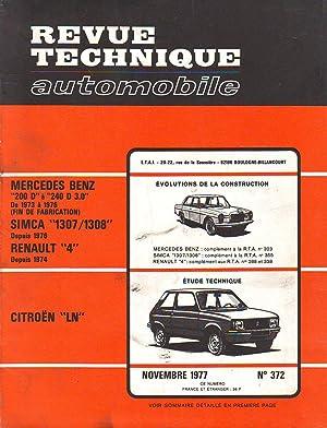 R.T.A. N° 372 - Revue Technique Automobile: Collectif