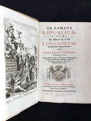 De Romana Republica sive de re militari: Cantel Pierre Joseph.