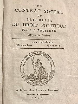 Du contrat social ou principes du droit: Rousseau Jean-Jacques.