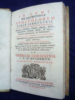 De eruditione apostolorum liber singularis in quo: Lami Giovanni.