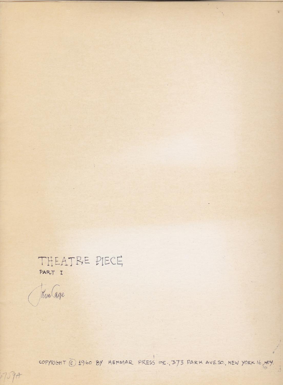 John Cages Theatre Pieces