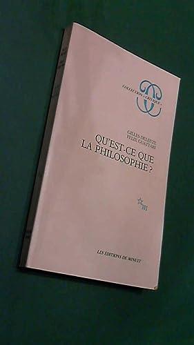 Quest Ce Philosophie De Felix Guattari Gilles Deleuze Abebooks