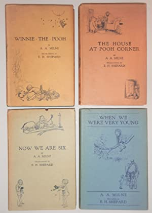 Winnie the Pooh Books, All Four Signed,: AA Milne
