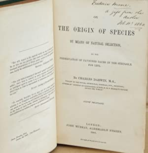 On the Origin of Species, Inscribed: Charles Darwin