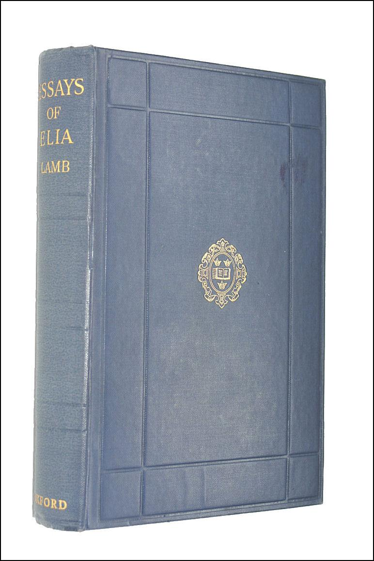 essays of elia by charles lamb abebooks