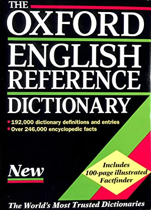 The Oxford English Reference Dictionary: OUP; Pearsall, Judy
