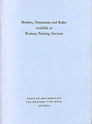 Borders, ornaments and Rules available at Western Printing Services