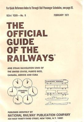 February 1971 #9 Official Guide of the: Various