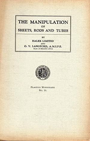 halex abebooksthe manipulation of sheets, rods and tubes halex limited and