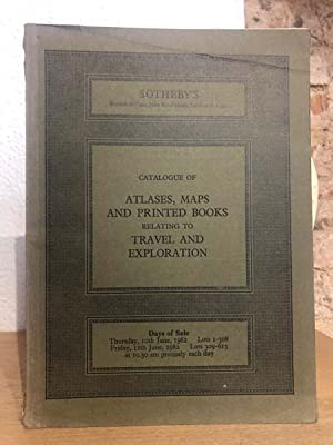 Catalogue of Atlases, maps and printed books relating to travel and exporation.