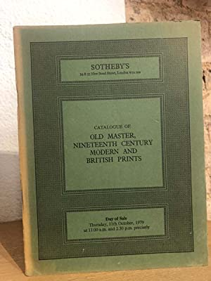 Catalogue of old master, nineteenth century modern and british prints.