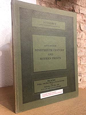 Catalogue of nineenth century and modern prints.