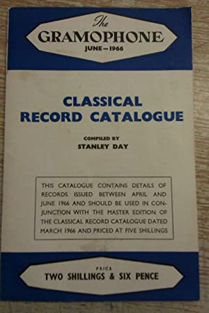 The Gramophone June 1966 Classical Record Catalogue: Stanley Day