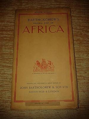 Bartholomew's General Map of Africa: Bartholomew