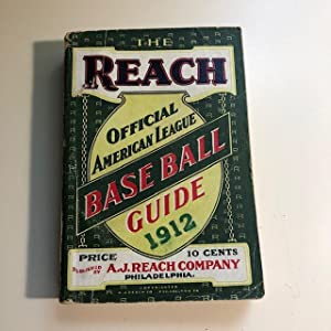 The Reach Official American League Baseball Guide for 1912