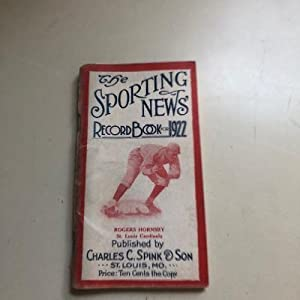 The Sporting New Record Book for 1922
