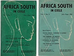 Africa South in Exile - 2 issues from 1960/61
