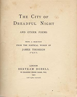 The City of Dreadful Night and Other Poems: Thomson, James