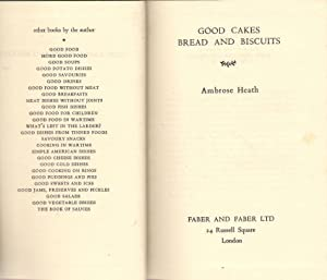 Good Egg Dishes & Good Cakes, Bread: Heath, Ambrose