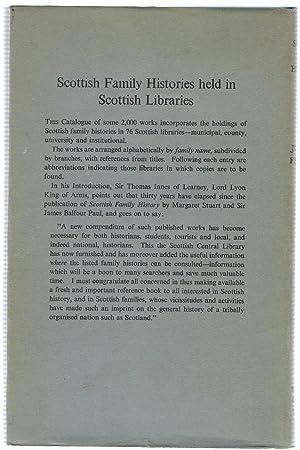 Scottish Family History Held in Scottish Libraries: Ferguson, Joan P.S.