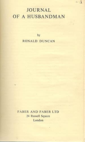 Journal of a Husbandman: Duncan, Ronald