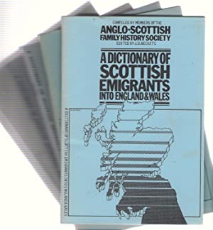 A Dictionary of Scottish Emigrants into England & Wales. 5 volumes: Beckett, J.D.