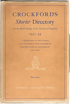 Crockford's Shorter Directory of the Parish Clergy of the Church of England 1953-54