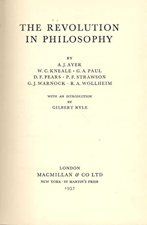 The Revolution in Philosophy