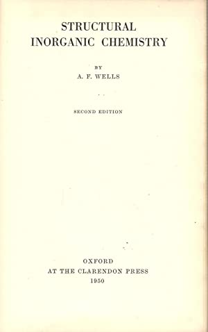 Structural Inorganic Chemistry: Wells, A.F.