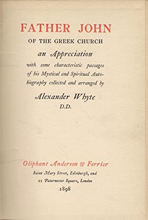 Father John of the Greek Church: Whyte, Alexander