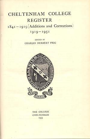 Cheltenham College Register 1841-1919 : Additions and Corrections 1919-1951: Pigg, Charles Herbert