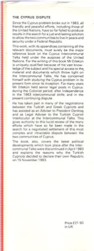 The Cyprus Dispute and the Birth of the Turkish Republic of Northern Cyprus.: Ertekun, Necati