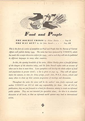Food & People: The Bureau of Current Affairs Number 77: Huxley, Aldous & Russell, John