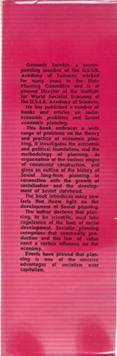 Planning in the USSR. The Problems of Theory and Organisation.: Sorokin, G.