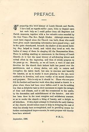 History of St Michael's Church, Lumb.: Lockett, Francis H.