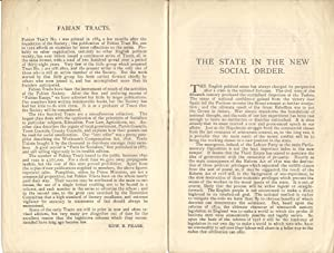 The State in the New Social Order : Fabian Tract No.200