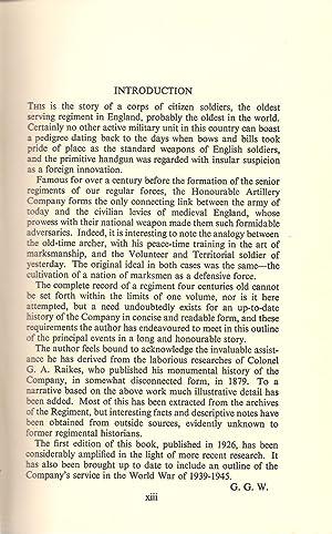 The Honourable Artillery Company 1537-1947: Goold Walker, G.