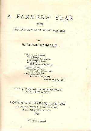 A Farmer's Year: Rider Haggard, H.