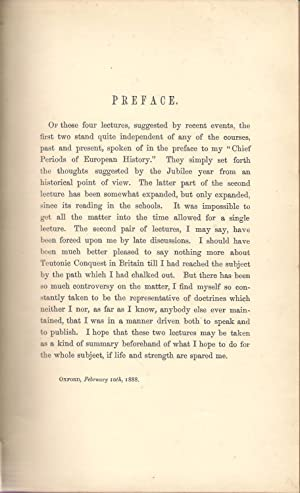 Four Oxford Lectures 1887: Freeman, Edward A.