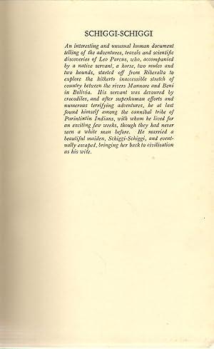 Schiggi-Schiggi Adventures of Leo Parcus in the Forests of Bolivia: Strauss, Fritz