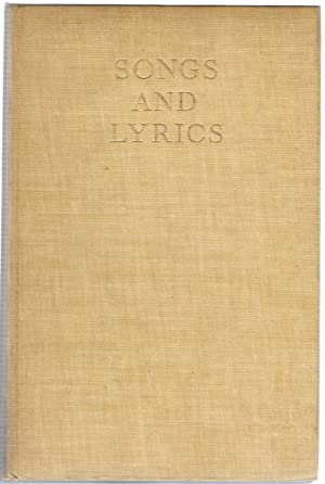 Songs and Lyrics from the English Playbooks: Boas, Frederick S.
