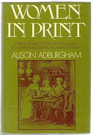 Women in Print : Writing Women and: Adburgham, Alison
