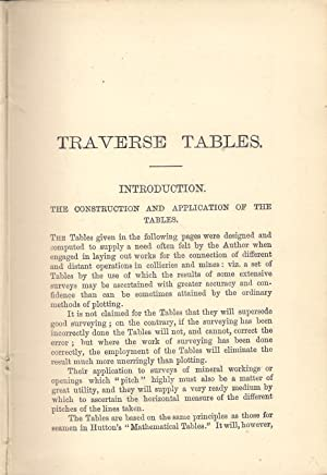 Traverse Tables for Use in Mine Surveying: Lintern, William