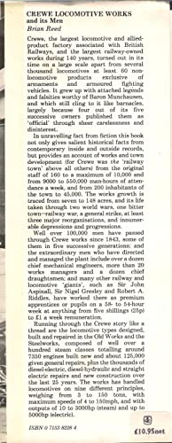 Crewe Locomotive Works and its Men: Reed, Brian