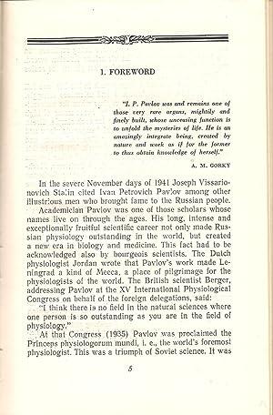 I.P. Pavlov : His Life and Work: Asratyan, E.A.